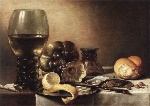 Representação de natureza morta em pintura