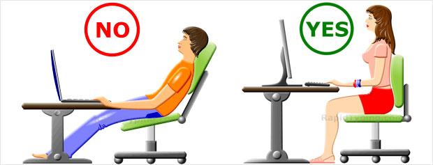 postura correta no computador