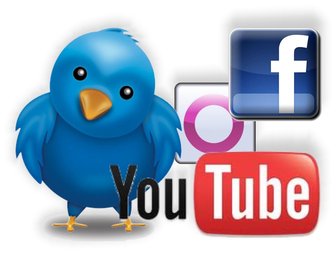Principais redes sociais.