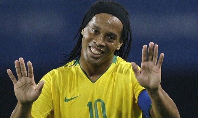 Ronaldinho Gaúcho com ao uniforme da seleção brasileira. (foto: reprodução)