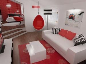 Sala vermelha (Foto: Reprodução)