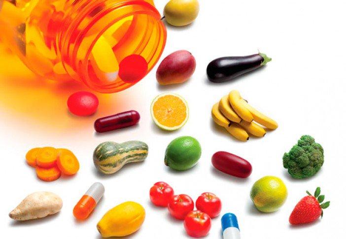 Imagem ilustrativa sobre suplementação alimentar a base de vitaminas.