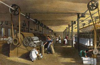 Representação de indústria textil