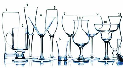 Os tipos certos de taças para bebidas certas
