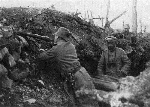 Soldados na trincheira