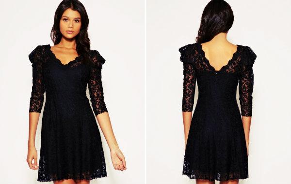 Vestido preto.