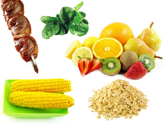 Imagem ilustrativa dos alimentos ricos em vitaminas B.