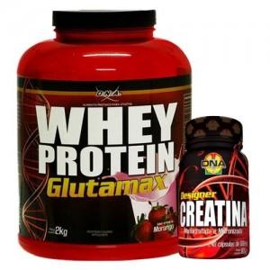 Whey Protein e Creatina são dois famosos suplementos alimentares.